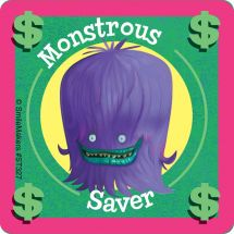 Monstrous Saver Stickers