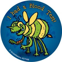 Blood Test Monsters Stickers