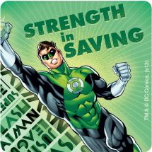 Justice League Power Savings Sticker