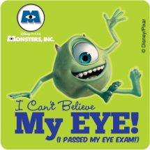 Monsters, Inc. Eye Stickers