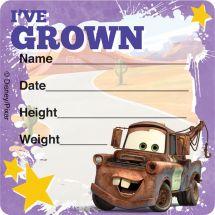 Disney*Pixar Cars I've Grown Stickers
