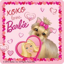 Barbie Valentine's Day Stickers