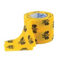 "2"" Bumble Bee Cohesive Bandage Wrap Roll"