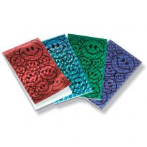 Metallic Smiley Notepads