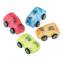 Mini Clear Free Wheel Cars