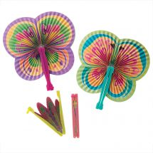 Butterfly Shaped Folding Fans