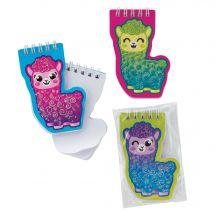 Llama Glitter Notepads