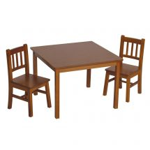 Mission Style Table & 2 Chairs