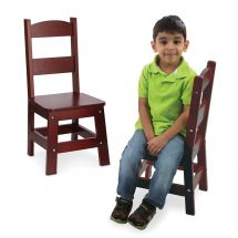 Espresso Wooden Chairs Set
