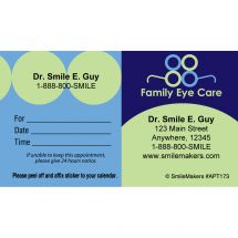 Custom Family Eye Care Appointment Cards