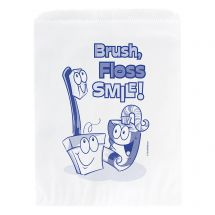 Brush, Floss, Smile Paper Bags