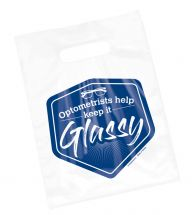 Clear Optometrist Keep It Glassy Bags