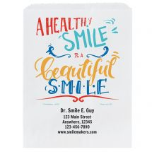 Custom Healthy Smile Paper Bags- Small, Large, or Pharmacy