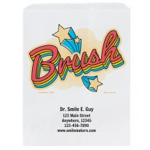 Custom Brush Star Paper Bags- Small, Large, or Pharmacy