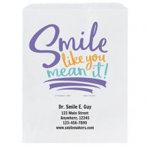Custom Smile Like You Mean It Paper Bags- Small, Large, or Pharmacy