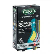 Case Curad® Assorted Fabric Strip Antibacterial Bandages