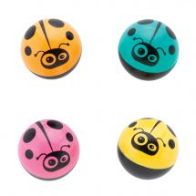 29mm Colorful Ladybug Bouncing Balls