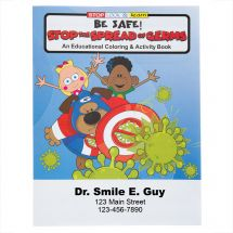 Custom Stop the Spread of Germs Coloring & Activity Books