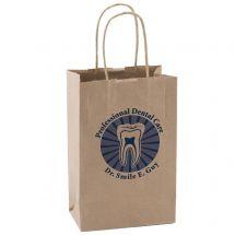 Custom Natural Kraft Paper Shopper Bags - Small