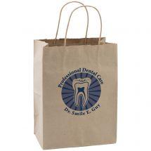 Custom Natural Kraft Paper Shopper Bags - Medium