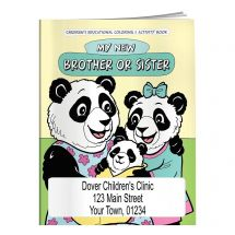 Custom My New Brother or Sister Coloring Book