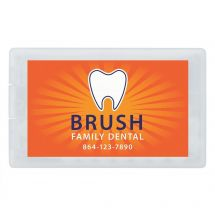 Custom SmileCare Credit Card Mints and Toothpicks - Full Color