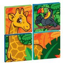 Jungle Friends Square Canvas Print Set