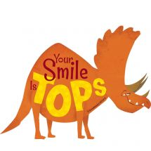 Smile is Tops Dinosaur Wall Decal