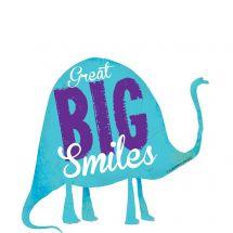 Big Smiles Dinosaur Wall Decal