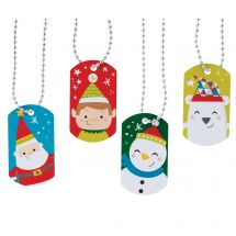 Holiday Dog Tag Necklaces