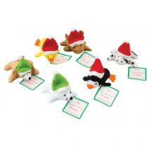 Assorted Holiday Plush Animals