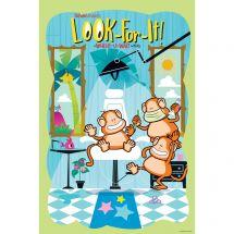 Brush Floss Smile Monkeys Look-For-It Poster