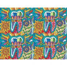 Modern Art Tooth Laser Recall Card
