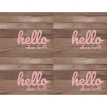 Rustic Hello Dental Laser Recall Cards
