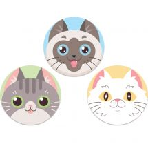 Cute Cats Mini Re-stickables