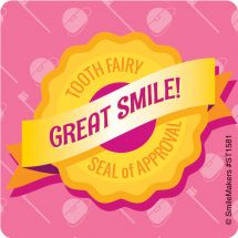 Tooth Fairy Seal of Approval Sticker