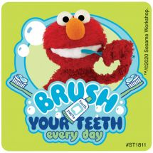 Elmo Brushing Stickers