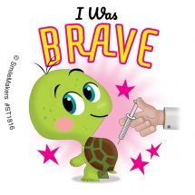 I Was Brave Little Animals Stickers