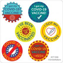 COVID Vaccine Mini Dot Stickers