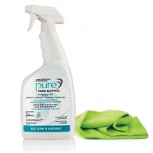 32oz. Bottle Pure Hard Surface Cleaner and Microfiber Cloth