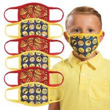 Child's Pizza & Emoji Washable Face Masks