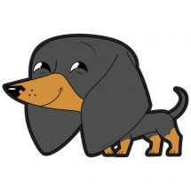 Playful Pets Dachshund Wall Decal
