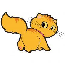 Playful Pets Walking Cat Wall Decal