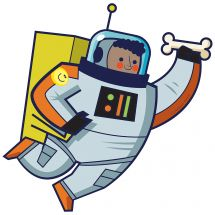 Silly Space Boy Astronaut Wall Decal