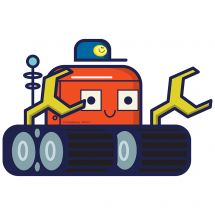 Space Tractor Wall Decal