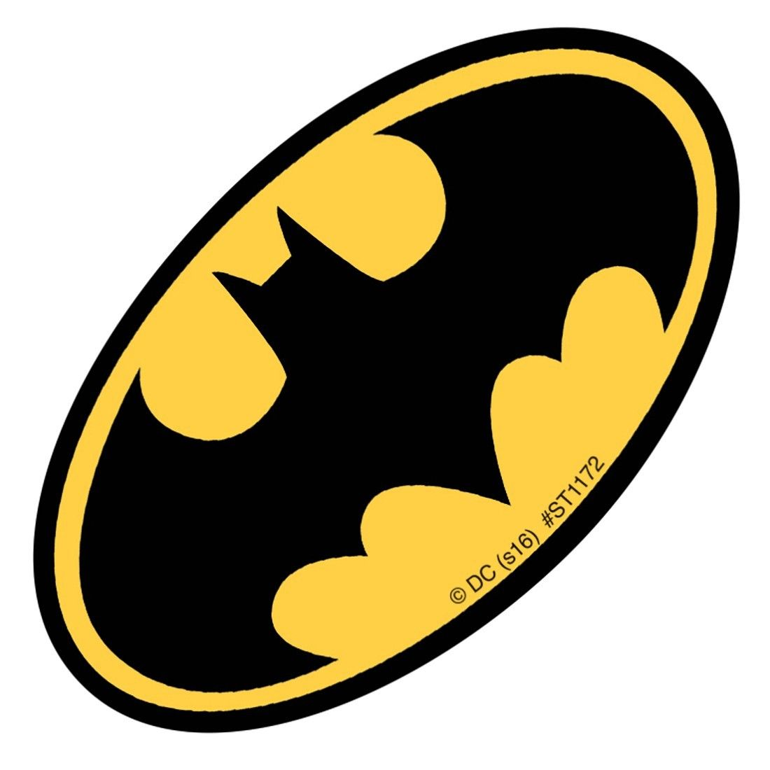 Shaped Batman Logo Stickers Stickers From Smilemakers
