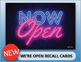 We're Open Recall Cards