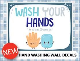 Hand Washing Decals