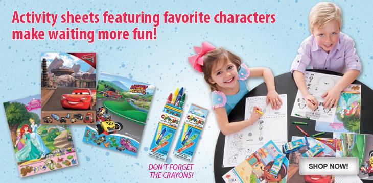 Disney Sticker Activity Sheets!