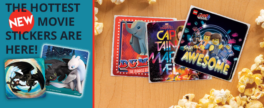 The hottest new movie stickers are here!